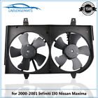 Front Radiator Cooling Fan Assembly For 2000 2001 Nissan Maxima Infiniti I30 New
