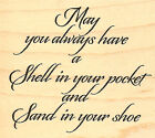 Shell Your Pocket Saying Wood Mounted Rubber Stamp Impression Obsession D9006NEW