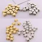 200pcs CCB Heart Star Shape Spacer Beads Charm Gold Silver Color DIY Jewelry New
