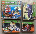 New lot 4 LEGO MINECRAFT Pirate Ship, Skull Arena,  End Battle, Nether Fight