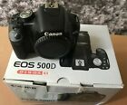 Canon EOS 500D with EF-S 18-55mm IS Lens (15.1MP Digital SLR Camera-Black) Boxed