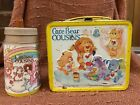 Vintage 1985 Care Bear Cousins Aladdin metal lunch box with Thermos