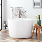 Signature Hardware 41 Siglo Round Japanese Soaking Tub No Faucet Holes