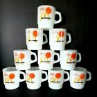 Vintage lot of 10 Fire King McDonald's Good Morning Sunshine Coffee Cups
