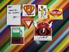 vtg Pearl Jam band music sticker signed by Jeff Ament
