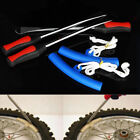 Universal Motorcycle 3x Tire Iron Lever Tool Changing Spoon 2x Wheel Rim Prote