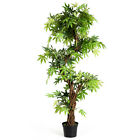 5 Feet Artificial Keel Red Vine Bonsai Green Leaves Indoor Outdoor Home Dcor