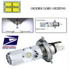 High Brightness Motorcycle H4 P43T P15D Headlight Bulbs 1400LM White Waterproof