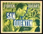 Original 1956 San Quentin Lobby Title Movie Card Pat OBrien Humphrey Bogart