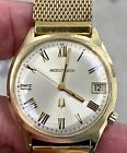 Vintage Bulova Accutron 218 14k Gold Filled Case With Original Box