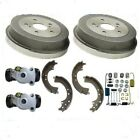 Rear Brake Drums Shoes Spring Kit Wheel Cylinder fits Toyota ECHO 2000 2005