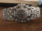 Harley Davidson Belt With Rhinestone Buckle Buckle Ladies Size 34
