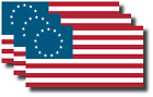 3 pack 3M USA American Flag Bumper Sticker Decal Betsy Ross 13 star US Patriotic