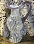 VINTAGE FENTON ART GLASS FRENCH OPALESCENT HOBNAIL PITCHER ,BOWL, VASE CREAM AND