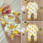 US Organic Cotton Newborn Baby Boy Girl Cartoon Romper Jumpsuit Outfits Clothes