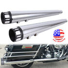 4 Megaphone Mufflers Exhaust Pipes For 1995 2016 Harley Touring Baggers Dresser