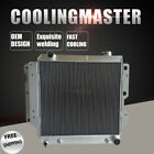 Fit 87 06 Jeep Wrangler YJChevy V8 Conversion AT MT 3 Row Aluminum Radiator