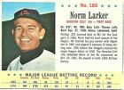 1963 POST CEREAL # 188 NORM LARKER HOUSTON COLT 45s VERY TOUGH VG-EX+