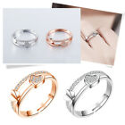 Heart Rings for Women Adjustable Unique Simple Bijoux Love Wedding Jewelry Ring