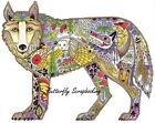 WOLF Animal Spirit Cling Unmounted Rubber Stamp EARTH ART Sue Coccia New