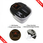 All In One Foot Spa Bath Massager with Heat Temp Time Set Vibration Rollers
