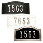 Warwick Custom Arch House Number Plaques and Satin Nickel Address Numbers