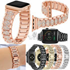 38/42mm Stainless Steel Flash Diamond Band Strap For Apple iWatch 4 3 2 1 Series