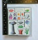 Stampendous Friendship Is A Well Tended Garden Plants Birds etc Rubber Stamp Set