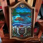 Vintage Old Style Beer Stain Glass Look Light Bar Sign Lighted NICE