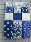 Awesome 2 Color Blue  White Disappearing 9 Patch Quilt Top Kit
