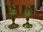 Indiana Diamond Point Green Wine Glass Goblet - 5