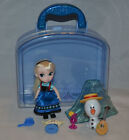 Gently Used! Disney Animators' Collection Elsa Mini Doll Play Set (Frozen) Olaf