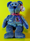 Ty Beanie Baby 'Periwinkle' 2000 with Button Teddy Bear MWMT BB179