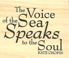 Sea Speaks to the Soul Wood Mounted Rubber Stamp Impression Obsession C5053 New