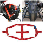 Universal Motorcycle Red Rear Wheel Handlebar Transport Bar Tie Down Strap Lock