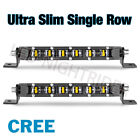 20 40 Cree Single Row Led Work Light Bar Spot Flood Driving Fog Atv Utv 2x 8