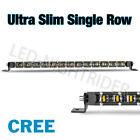Single Row Cree Led Work Light Bar Spot Flood Driving Offroad Atv 4wd 8 22 42