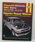 Haynes 24066 Repair Manual Chevrolet Silverado GMC SIERRA1999 and 2000 2wd