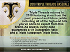 2018 Topps Triple Threads Baseball Hobby Master Box (Sealed)(Random)