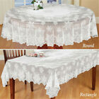 White Vintage Lace Dining Table Cloth Cover Christmas Tablecloth Party Decor USA