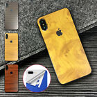4 Colors 3D Textured Wooden Skin Sticker Cover Vinyl For Apple iPhone X XS MAX