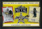 2019 Leaf Metal All-American Bowl Football sealed hobby box 8 auto