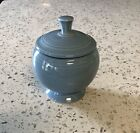 Fiesta Footed Sugar Bowl & Lid Periwinkle Blue HLC, Excellent Condition!