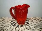 VINTAGE LE SMITH AMBERINA MOON  STARS GLASS PITCHER 8 TALL