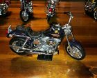 1998 Harley Davidson FXDL DYNA LOW RIDER Purple Die Cast Toy 1:18 scale w/ Stand