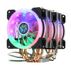 4Pin Three Fans 4 Heatpipes Colorful Backlit CPU Cooling Fan Cooler Heatsink
