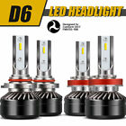 9005+H11 Combo LED Headlight HighLow Beams 6000K 120W 24000LM High Power Lamps