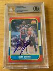 1986 Fleer #109 Isiah Thomas Rookie Signed Auto