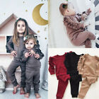 US Toddler Baby Kids Girl Clothes Top T shirt Pants Leggings Outfits 2PCS Sets