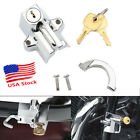 Chrome Motorcycle Handlebar Helmet Lock for Harley Davidson Street Glide Touring